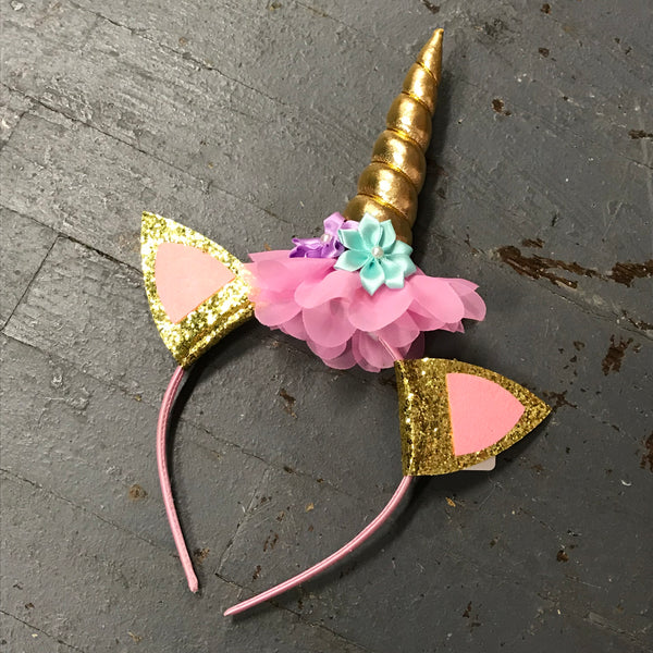 Hair Clip Headband Bow Unicorn Horn and Ears