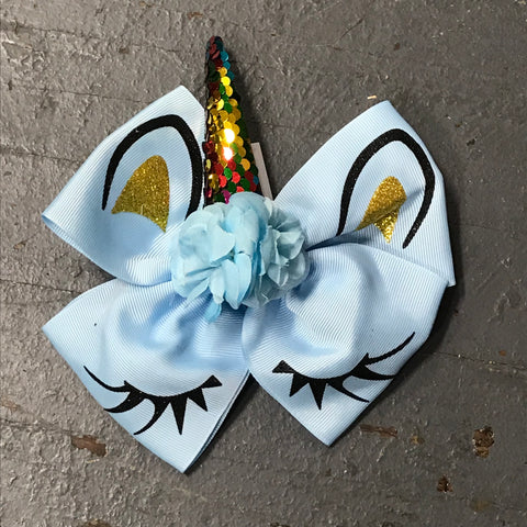 Hair Clip Ribbon Headband Bow Unicorn Horn and Ears