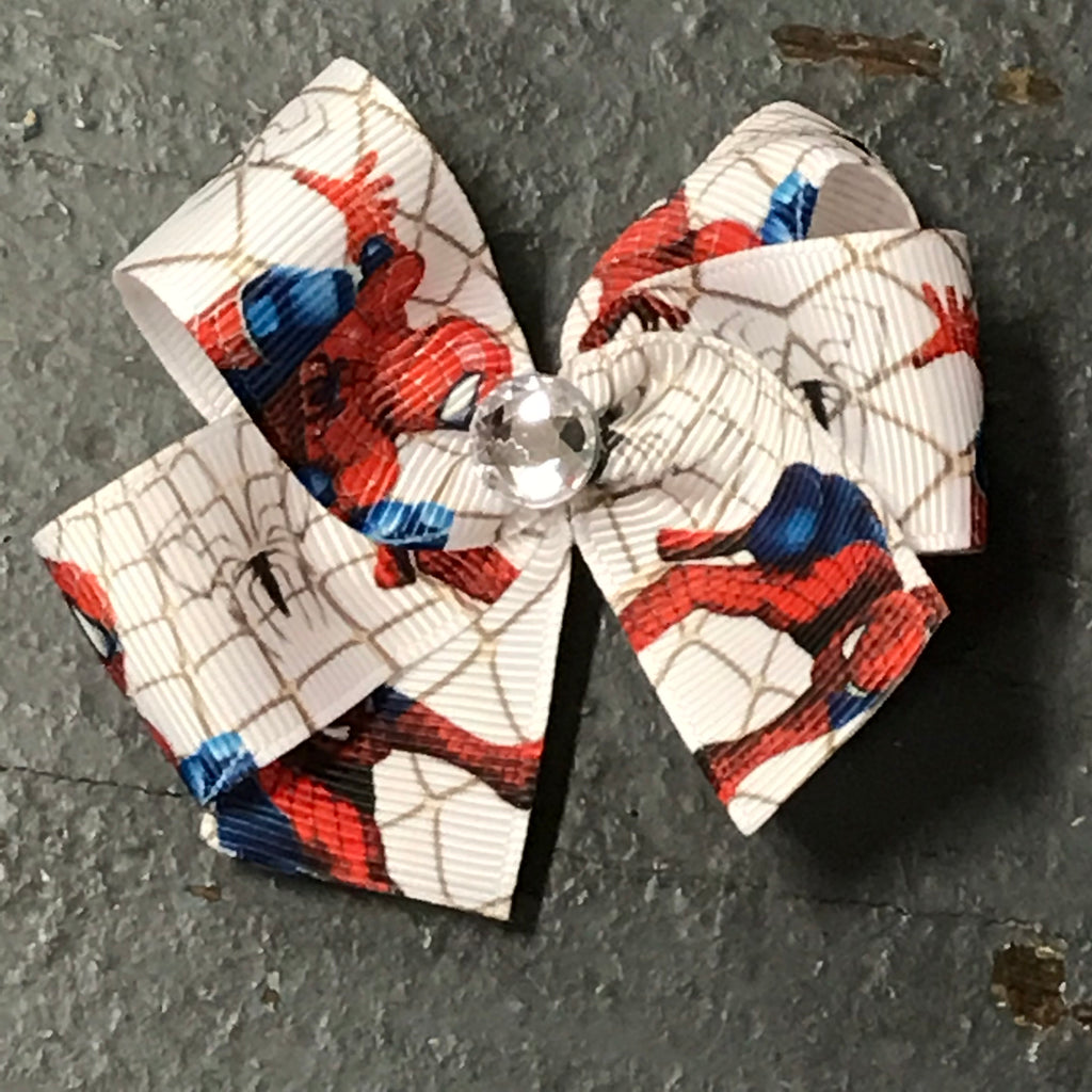 Hair Clip Ribbon Headband Bow Comic Book Superhero Spiderman