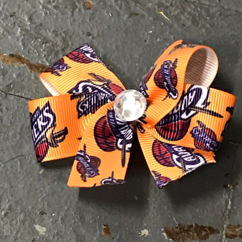 Hair Clip Ribbon Headband Bow Sports Team Basketball Cleveland Cavaliers