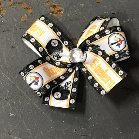 Hair Clip Ribbon Headband Bow Sports Team Football Pittsburgh Steelers
