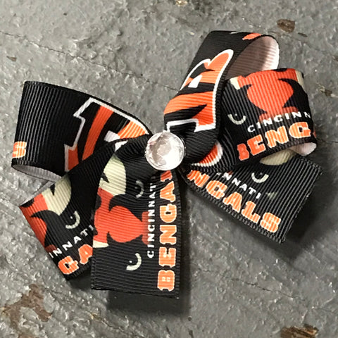 Hair Clip Ribbon Headband Bow Sports Team Football Ohio Cincinnati Bengals