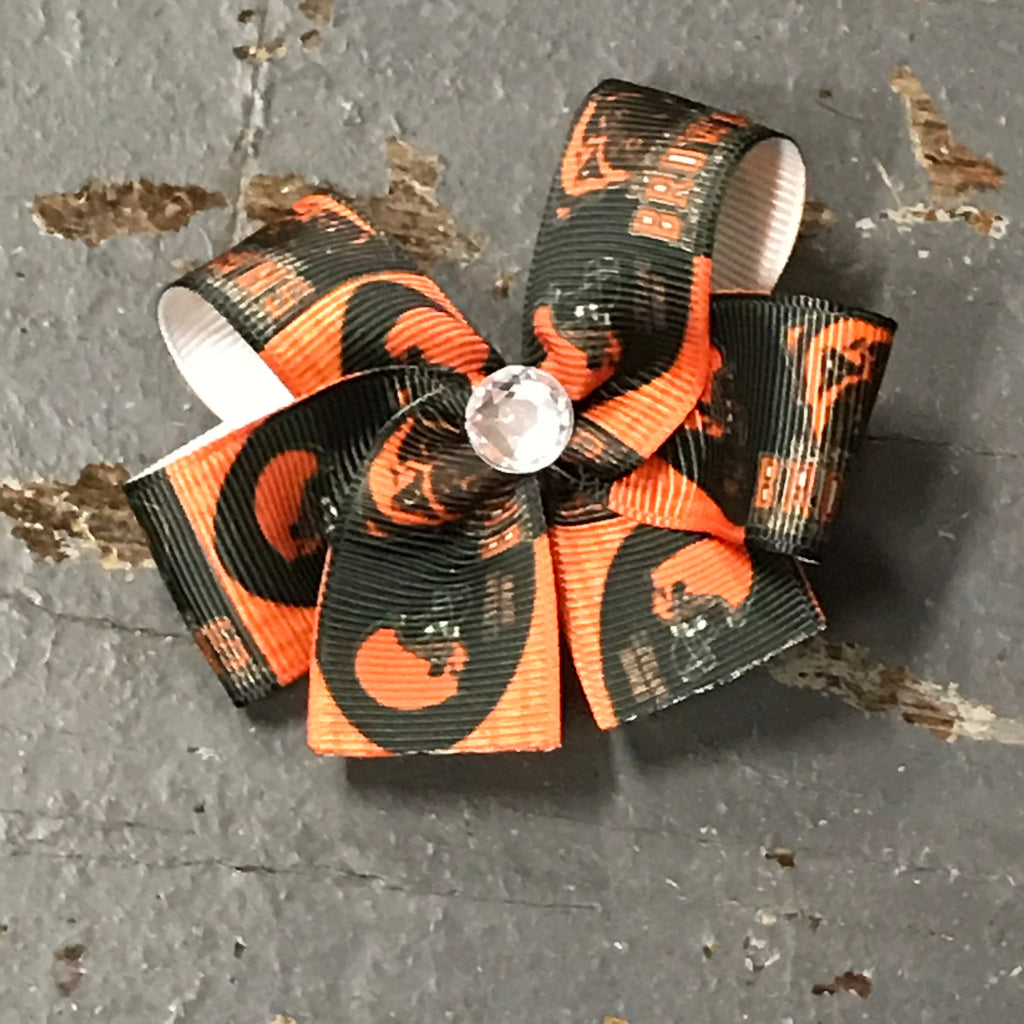 Hair Clip Ribbon Headband Bow Sports Team Football Ohio Cleveland Browns