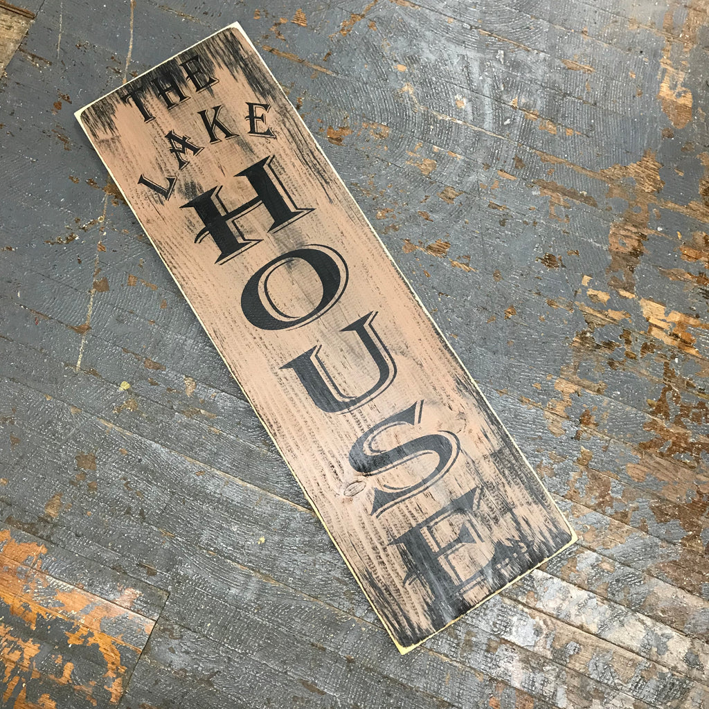 Hand Painted Wooden Sign Primitive Rustic The Lake House