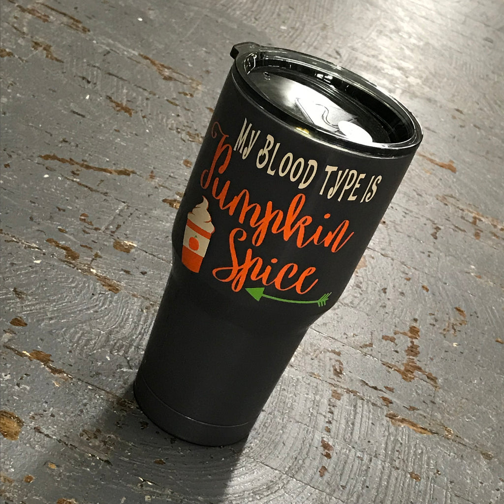 Blood Type Pumpkin Spice Ozark Trail 30oz Double Wall Vacuum Sealed Beverage Drink Tumbler