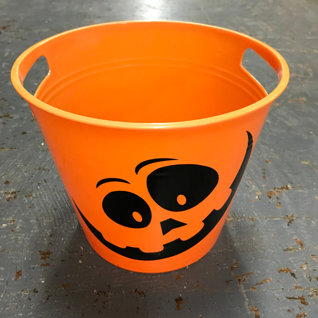 Large Trick or Treat Jackolantern Pumpkin Candy Basket Chip Bowl Ice Bucket