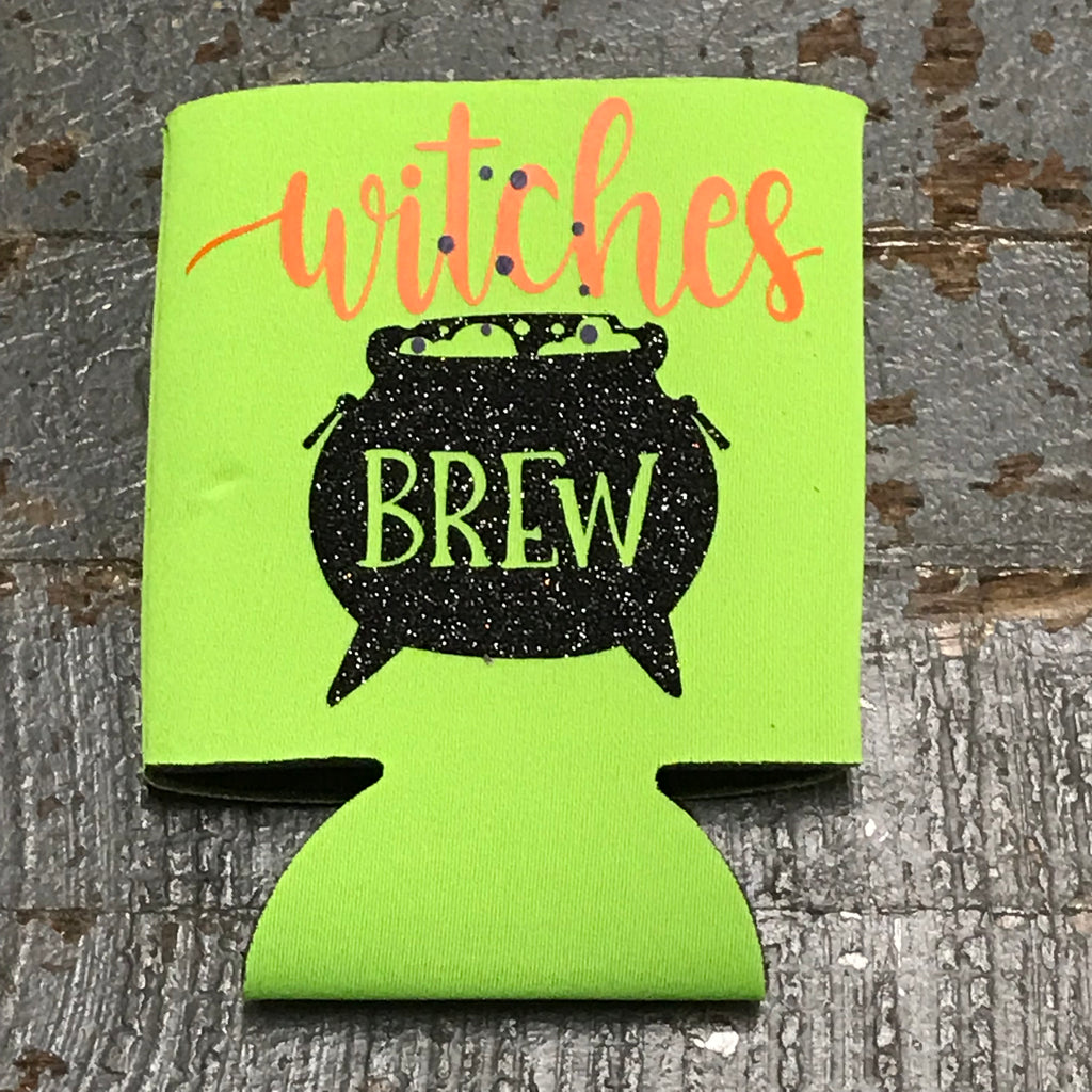 Trick or Treat Halloween Coozie Can Hugger Witches Brew
