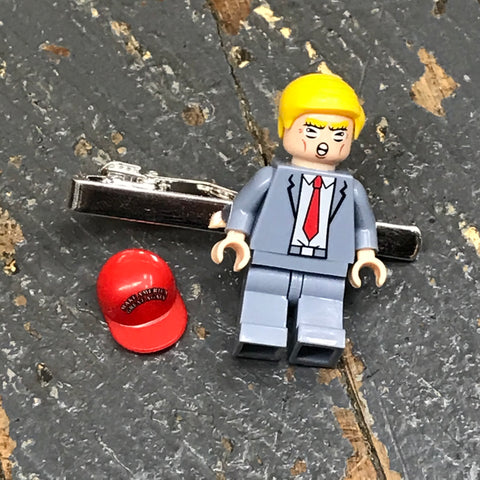 Make America Great Again President Donald Trump Lego Figurine Tie Tack Clip Pin