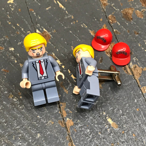Make America Great Again President Donald Trump Lego Figurine Cuff Links Wedding Groom Suit Tux
