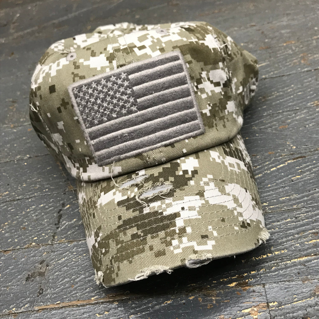 American Flag Patch Digital Camo Embroidered Ball Cap