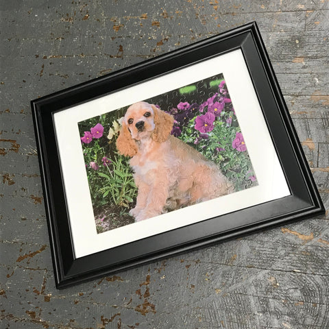 Framed Puzzle Picture Cocker Spaniel Puppy Dog