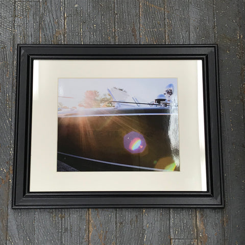 Lady of the Lake Antique Wooden Boat Framed Photograph 8x10