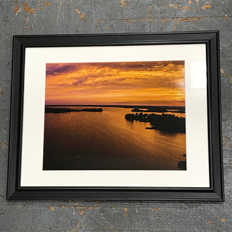 Long Island Indian Lake Sunset Framed Photograph 11x14