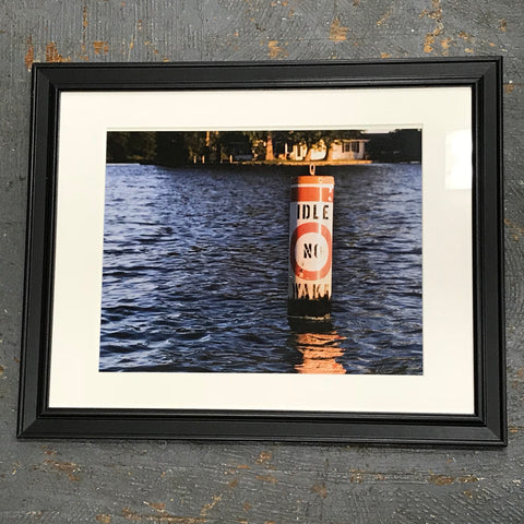 Indian Lake Boating Buoy Framed Photograph 11x14