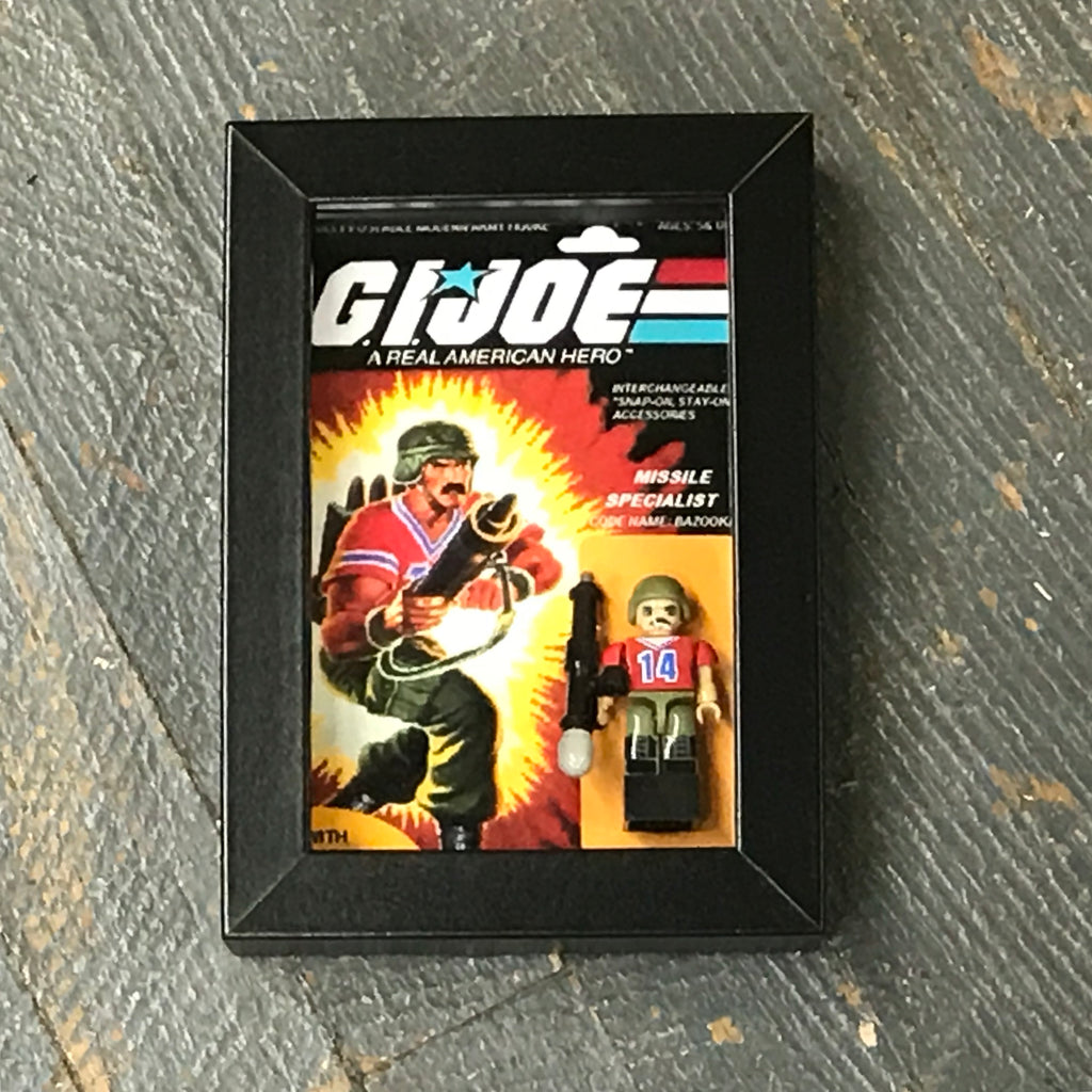 GI Joe Missile Specialist Bazooka Comics Lego Figurine Wall Display Picture Frame Toy Art