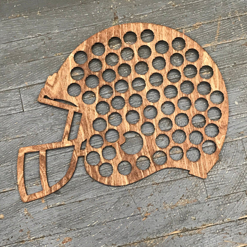 Bottle Cap Holder Football Sport Helmet Brown