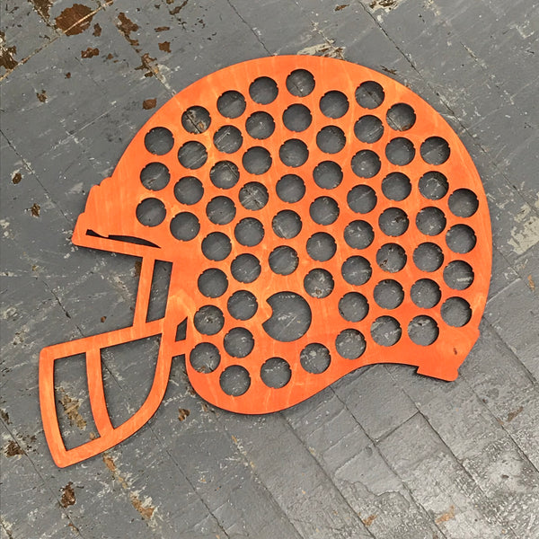 Bottle Cap Holder Football Sport Helmet Orange