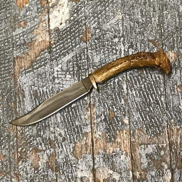 Custom Handmade Whitetail Deer Antler Handle Stag Knife Blade