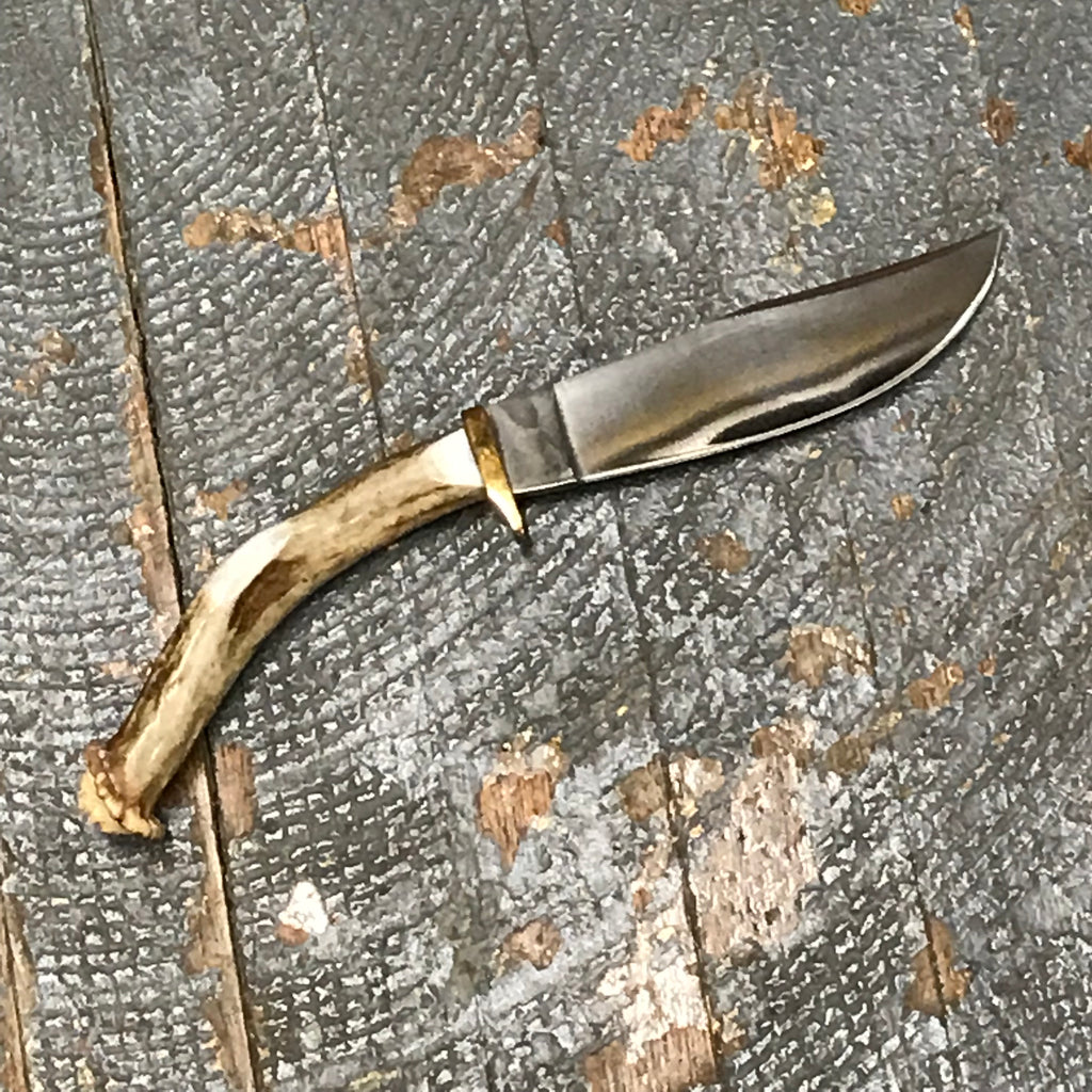 Custom Handmade Whitetail Deer Antler Handle Stag Knife Bohning Blade