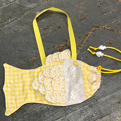 Drawstring Fish Tote Purse Bag Handmade