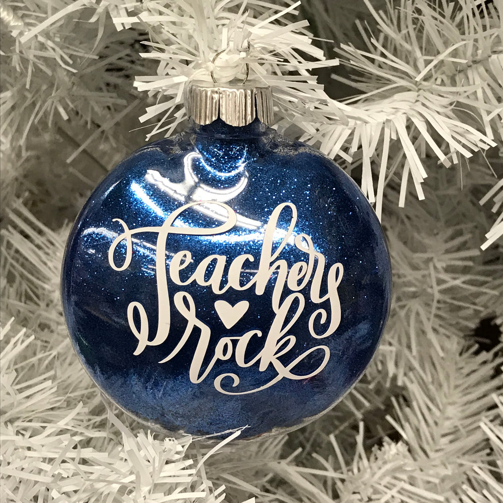 Holiday Christmas Tree Ornament Teachers Rock