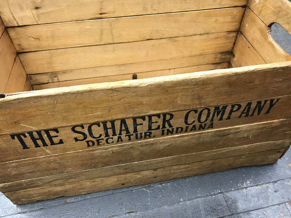 Antique Vintage Hubbard's Wire Sewed Folding Box Schafer Company