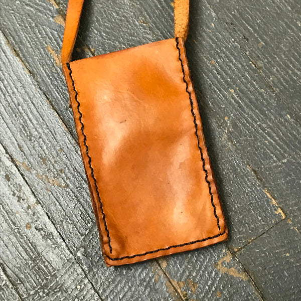 Handmade Leather Wallet Cell Phone Bag Crossbody Shoulder Purse Belt Pouch