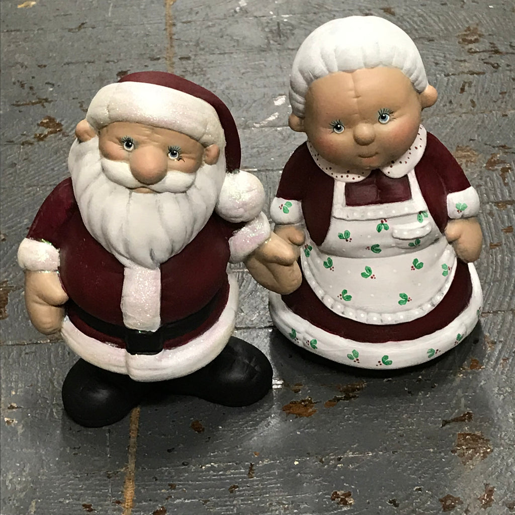 Ceramic Christmas Mr Mrs Claus Santa Clause