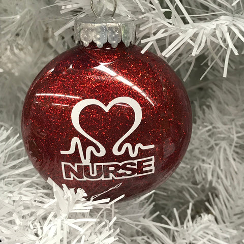 Holiday Christmas Tree Ornament Nurse