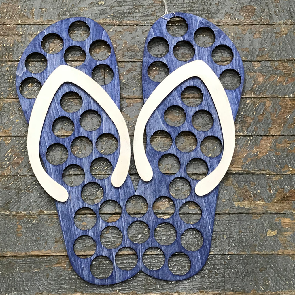 Bottle Cap Holder Flip Flop Sandal Blue