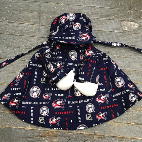 Goose Clothes Complete Holiday Goose Outfit Columbus Bluejackets NHL Dress and Hat