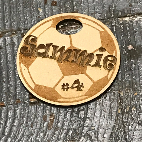 Soccer Sports Personalized Wood Engraved Holiday Christmas Tree Ornament