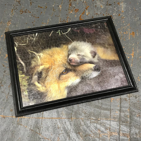 Framed Puzzle Picture Wall Art Wildlife Outdoor Snuggles