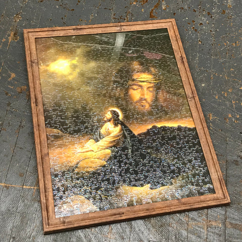 Framed Puzzle Picture Wall Art Jesus Christ