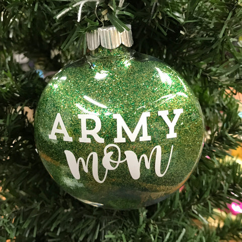 Holiday Christmas Tree Ornament Army Mom