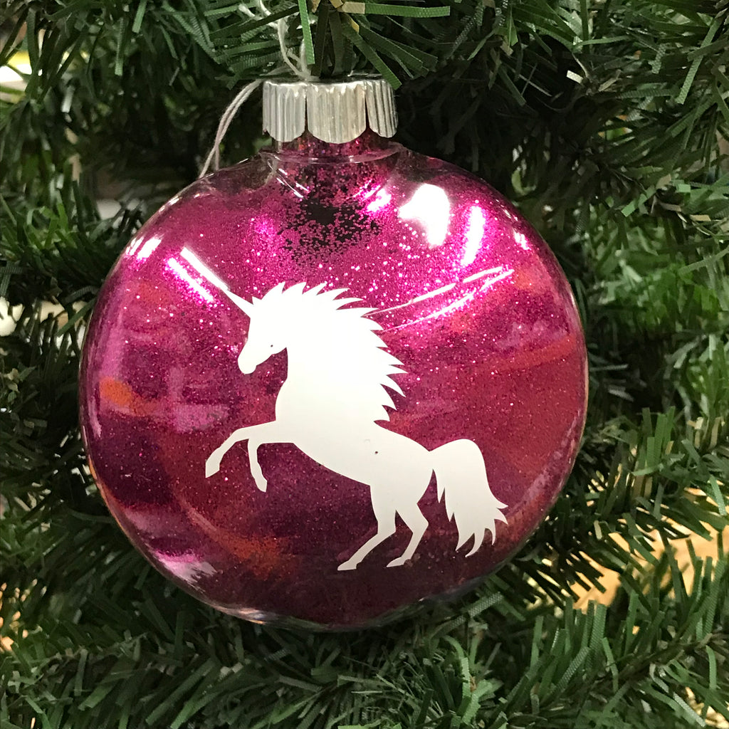 Holiday Christmas Tree Ornament Unicorn Horse