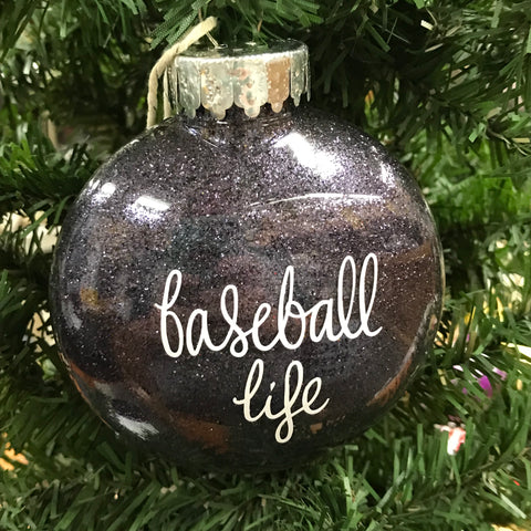 Holiday Christmas Tree Ornament Baseball Life