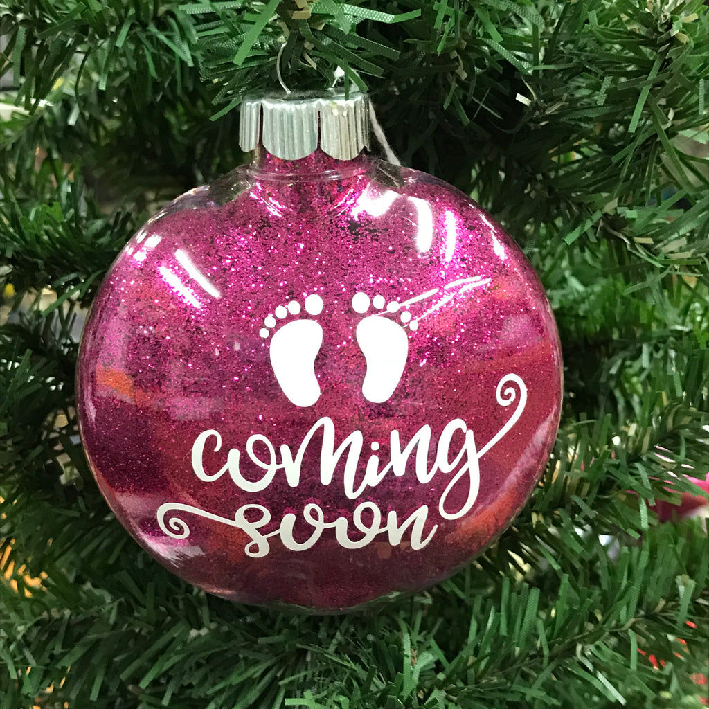 Holiday Christmas Tree Ornament Coming Soon Expecting Mother Pregnant