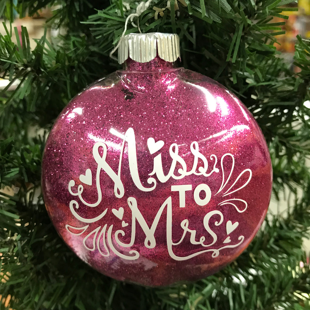 Holiday Christmas Tree Ornament Miss to Mrs