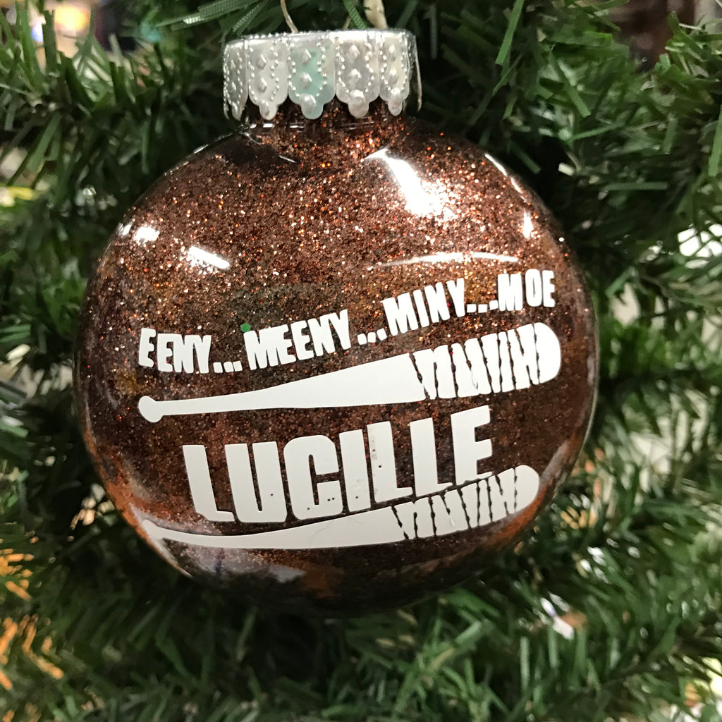 Holiday Christmas Tree Ornament Lucille Zombie Bat Walking Dead Brown