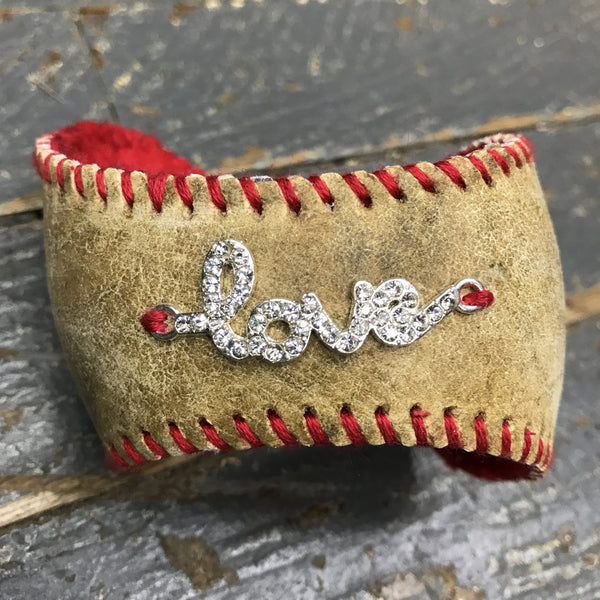 Handmade Baseball Bracelet Red with Love Jewelry