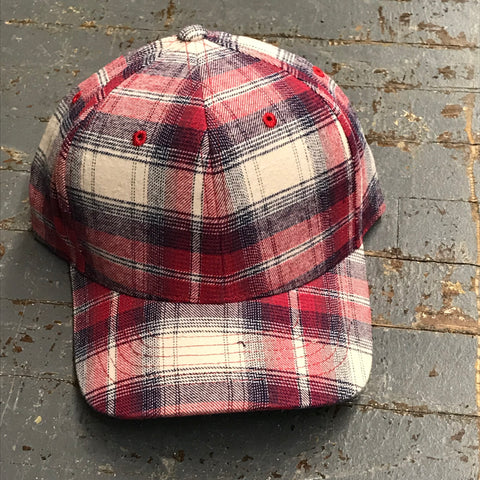 Plaid Hat Ball Cap
