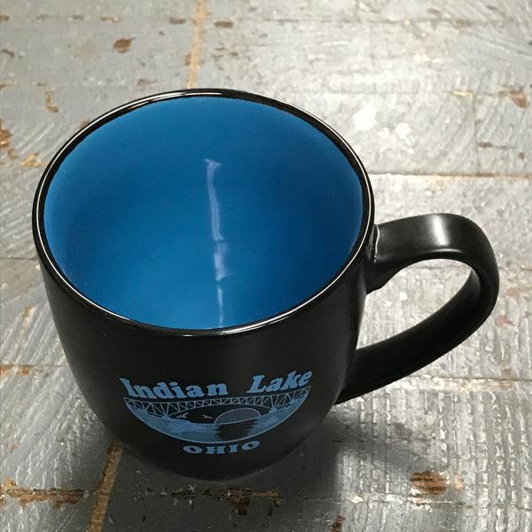 Standard Coffee Cup Mug Indian Lake Ohio Bridge Black Sky Blue
