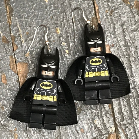 Batman Marvel DC Comic Lego Figurine Dangle Earring Set Pair