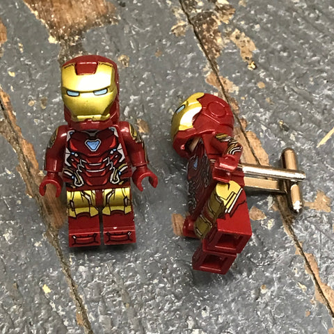 Iron Man DC Comic Lego Figurine Cuff Links Wedding Groom Suit Tux