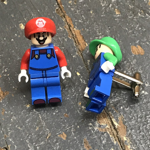 Mario Luigi Nintendo Comic Lego Figurine Cuff Links Wedding Groom Suit Tux