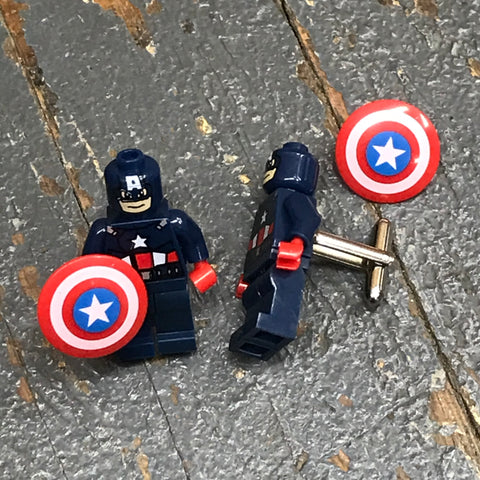 Captain America DC Comic Lego Figurine Cuff Links Wedding Groom Suit Tux