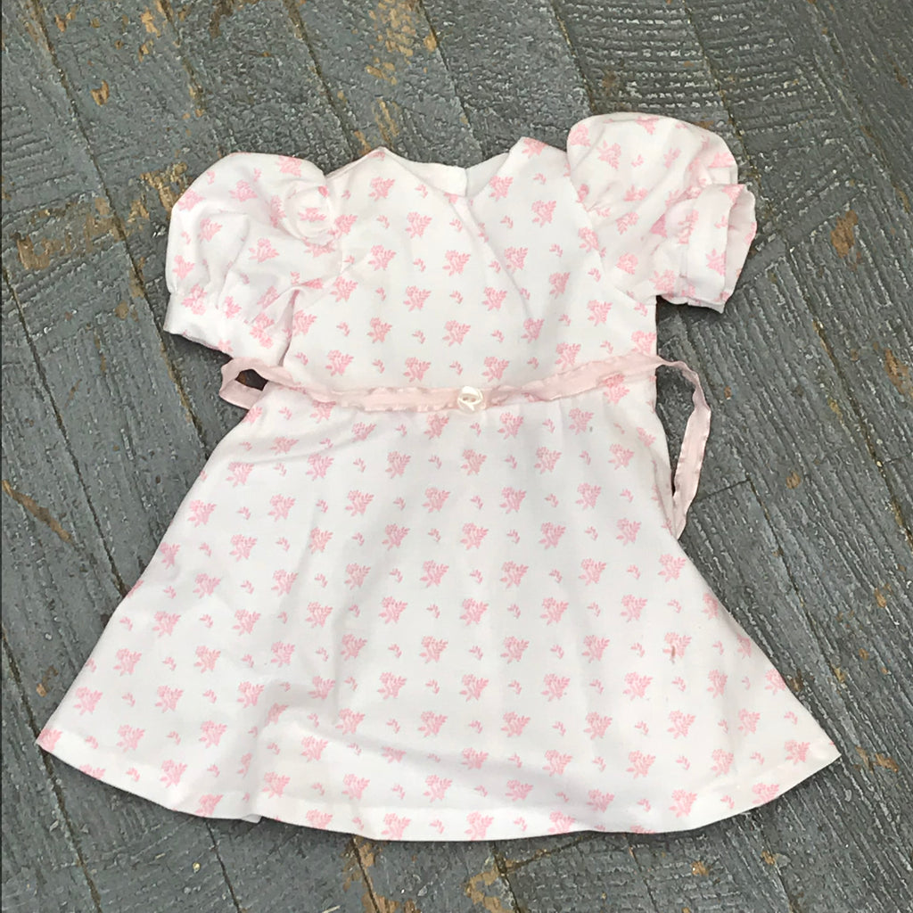 "Fits Like American Girl 18"" Doll Clothes Outfit White Pink Wheat Flower Dress Skirt"