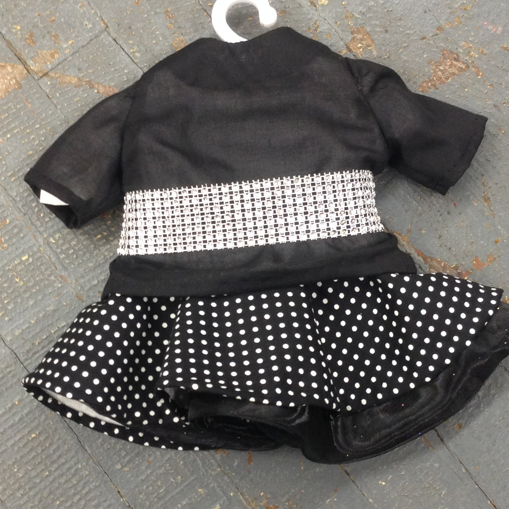 "18"" Doll Clothes Outfit Black Polka Dot Evening Dress and Jacket"
