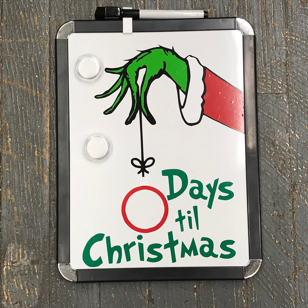Grinch Dry Erase Magnet Board Days Till Christmas Sign